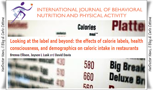 Calorie sul menù