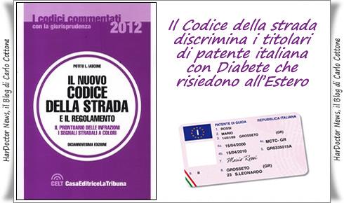Codice della strada.diabete.estero