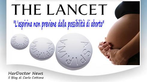 L'aspirina non previene dalla possibilità di aborto