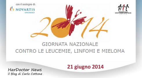 Giornata Nazionale per la lotta contro Leucemie, Linfomi e Mieloma 2014
