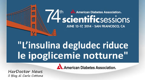 L'insulina degludec riduce le ipoglicemie notturne