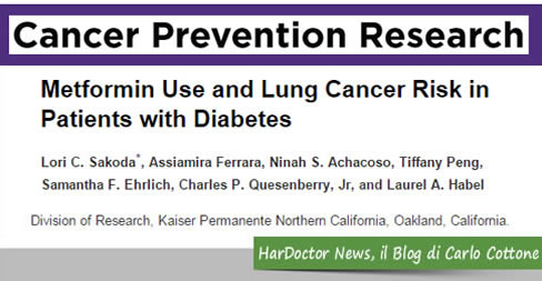 Metformina e cancro polmonare