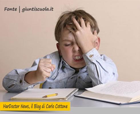 Compiti scolastici e stress