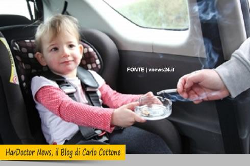 Fumo e bambini in auto