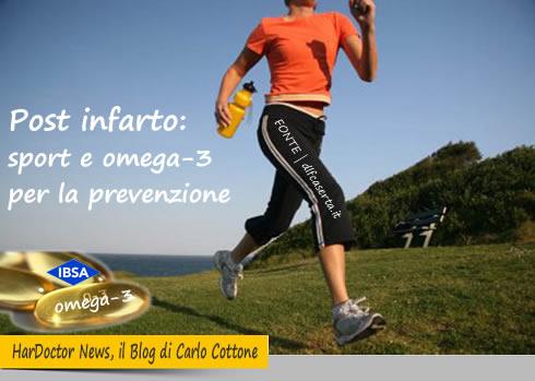 Post infarto, sport e omega-3 per la prevenzione