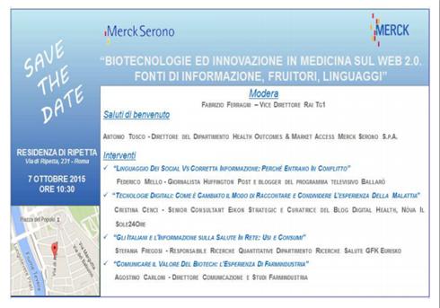Biotecnologie ed Innovazione in Medicina sul Web 2.0