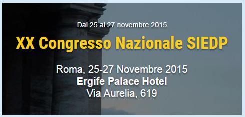 congresso nazionale SIEDP 2015