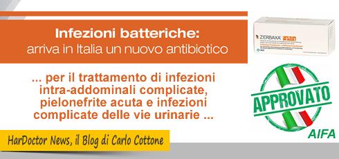Arriva in Italia ZERBAXA®, nuova terapia per contrastare i batteri multiresistenti