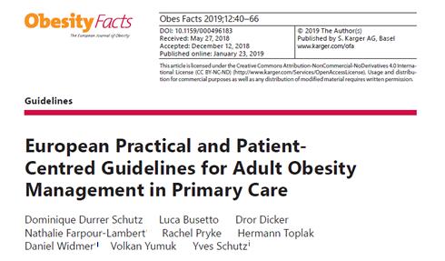Nuove linee guida europee per la gestione dell'obesità in età adulta nelle cure primarie