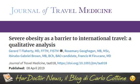 Viaggiare con l'obesità. Una piccola inchiesta.