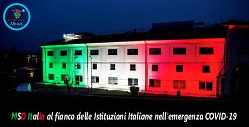 MSD Italia al fianco delle Istituzioni Italiane nell'emergenza COVID-19
